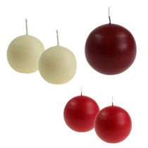 Ball candle and round candles