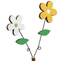Decorative plug wood flower H44cm 6pcs