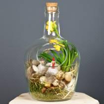 Glass bottle decorative vessel with cork Ø19cm H30cm
