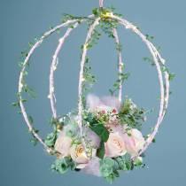 Decorative ring to hang black Ø25cm 6pcs