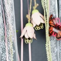 Decoration hanger metal flower 13cm 3pcs
