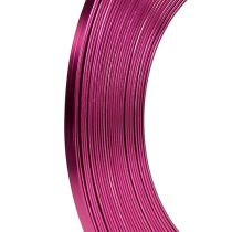 Aluminum flat wire pink 5mm 10m
