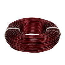 Aluminum wire Ø2mm 500g 60m Bordeaux