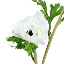 Anemone artificial white 6pcs