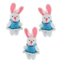 Pendant bunny 5.5cm blue 9pcs