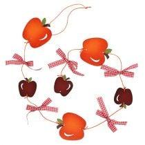 Apple garland red 86cm 3pcs