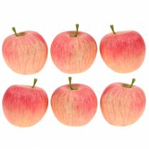 Decorative apple pink, yellow Real-Touch 6.5cm 6pcs