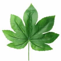 Aralia leaf with stem green L61.5cm 12pcs