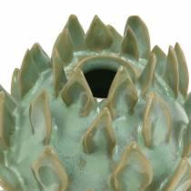 Dekovase Artikschocke ceramic green Ø9,5cm H9cm