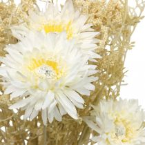 Artificial bouquet asters and gypsophila beige, white 43cm