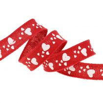 Decorative ribbon with hearts 15mm 15m