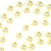 Pearl ribbon cream 10mm 6m