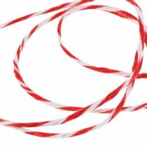 Cord red / white 220m