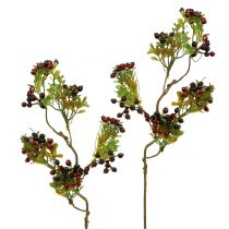 Artificial berry branch cotoneaster red 50cm 2pcs