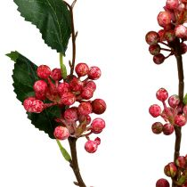 Berry branch artificial red-white 64cm 6pcs