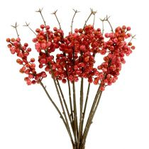 Berry branch pink L 28cm 12pcs
