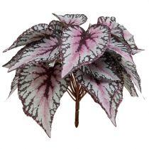 Artificial begonia bush Bordeaux 37cm