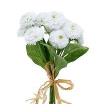 Bellis bouquet white 24cm 3pcs