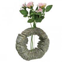 Concrete vase with test tube ring Ø16cm