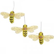 Decorative clip bee, spring decoration, bee to clamp, gift decoration 3pcs