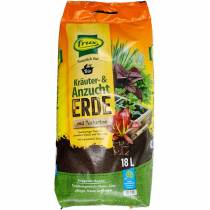 FRUX organic herb and potting soil with natural clay organic soil herb soil 18l