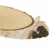 Birch slices oval natural 4 × 8cm 1kg for decoration