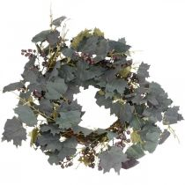 Decorative wreath vine leaves and grapes Autumn wreath grapevines Ø60cm