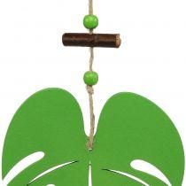 Leaf 14.5cm for hanging green