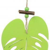 Leaf to hang light green 14.5cm