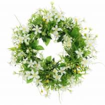 Wreath anemone / dill green, white Ø30cm