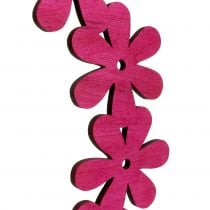 Flower wreath wood in pink Ø35cm 1p