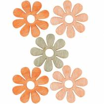 Flowers to sprinkle, spring decoration, wooden flowers, scattered decoration flowers 144St