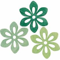 Scattered flowers green, spring decoration, wood blossoms for scattering, table decoration 72pcs