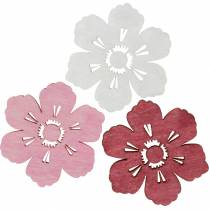Wooden flowers cherry blossoms, sprinkle decoration spring, table decoration, flowers to sprinkle 72pcs