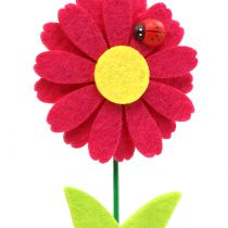 Decorative plug flower with ladybug H24cm 12pcs