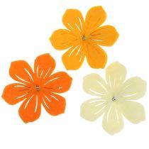 Felt flower on clip 7cm 24pcs