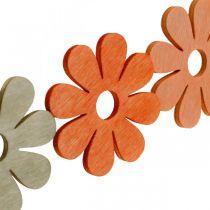 Flowers to sprinkle orange, apricot, brown sprinkle deco wood 72pcs