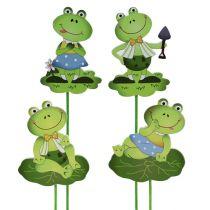 Flower studs frog 8cm L30cm 8pcs