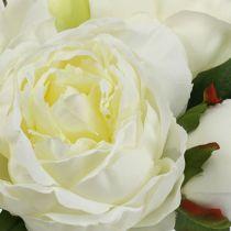 Bouquet of peonies white L30cm