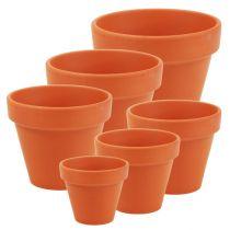 Flower pot clay 10 pieces