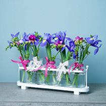 Flower vase apothecary bottles apothecary glass decoration on tray 38cm