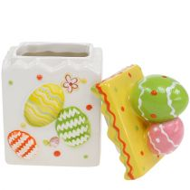 Candy jar yellow Easter 13.5cm