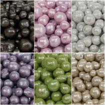 Brilliant decorative beads 4mm - 8mm colored 1l