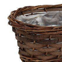 Bread basket oval unpeeled 25cm H9cm