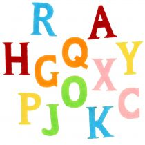 Felt letters assorted colors 2.5cm - 3cm 150p