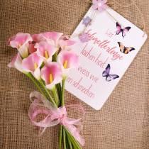 Calla deco flower pink 57cm 12pcs