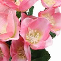 Bouquet of Christmas roses pink 29cm 4pcs