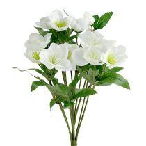 Christmas rose bouquet 39cm cream