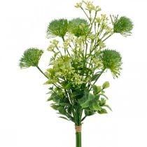 Silk flowers, artificial bouquet, flower decoration with thistles 40cm