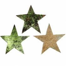 Coconut star green 5cm 50pcs decorations for tables and wreaths